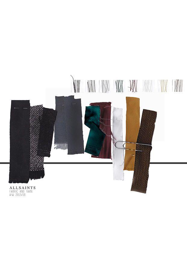 BOONSITA SINGHTOTHONG | ALLSAINTS: DUTY.  fashion design, fashion, portfolio, layout, art, drawing, sketching, fabric board