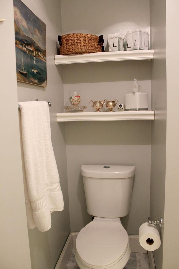 diy shelf ideas for bathroom%0A DIY built in storage shelves in bathroom