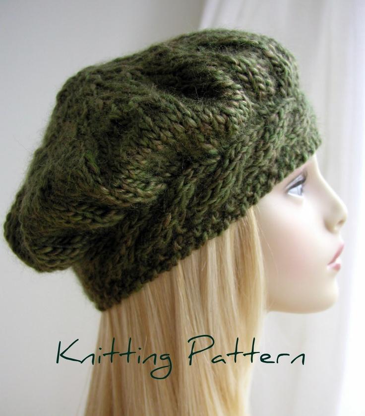free knit hat pattern - Google Search