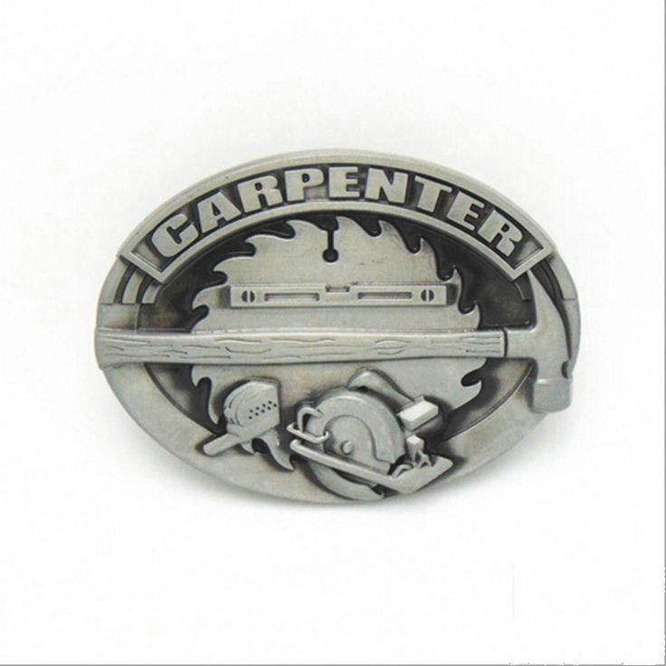 Oval Carpenter Belt Buckle Fits 4cm Wide Belt