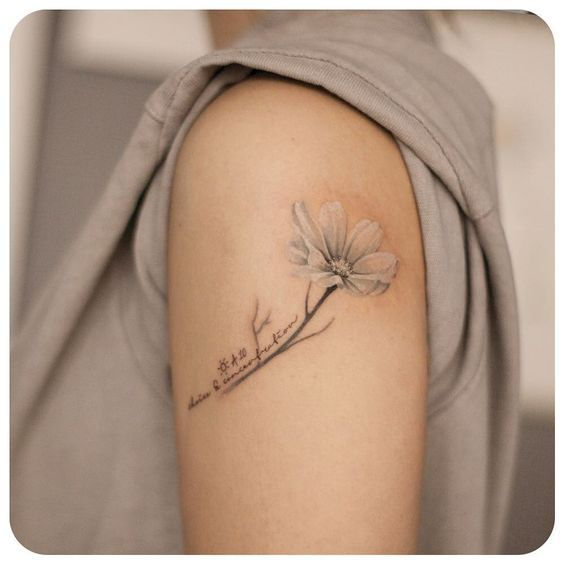Best 20 cosmos tattoo ideas on pinterest art inspired for Birth flower october tattoo
