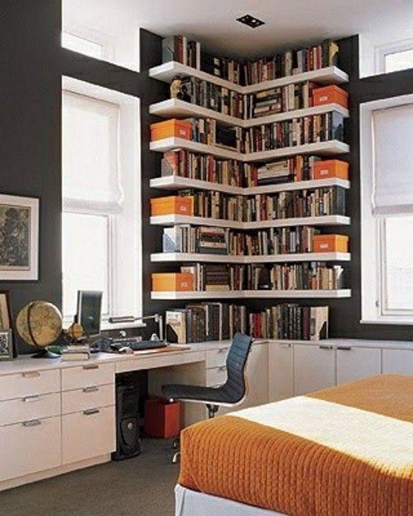 large modern corner shelf