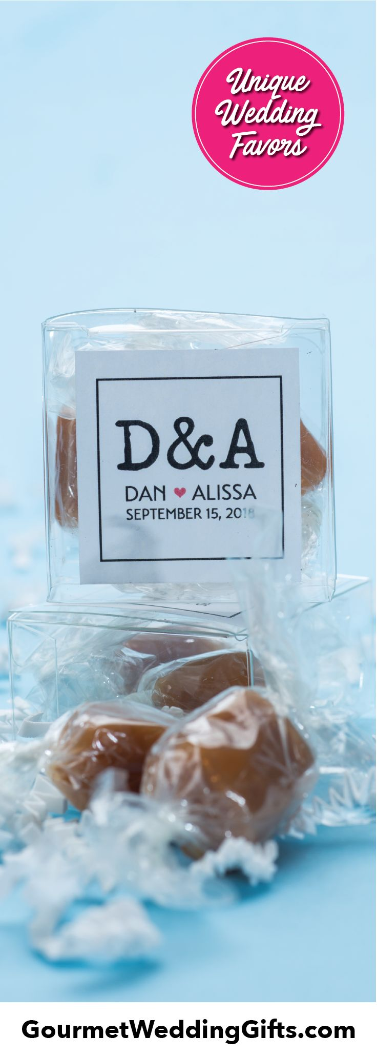 Personalized 2 Piece Artisan Caramel Gift Boxes