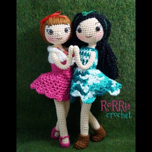The dancers Rumi and Julia... ^^ thank you for the likers (made for order, 8-9 inches tall, Indonesia only) #Padgram