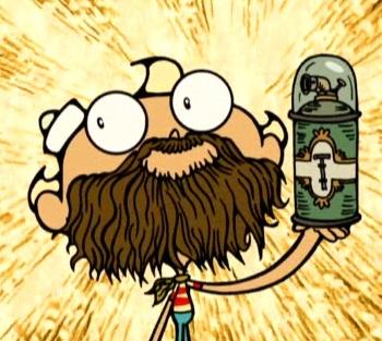 Beard buddies, Flapjack! Dedicate to http://pinterest.com/arthurvlopes/
