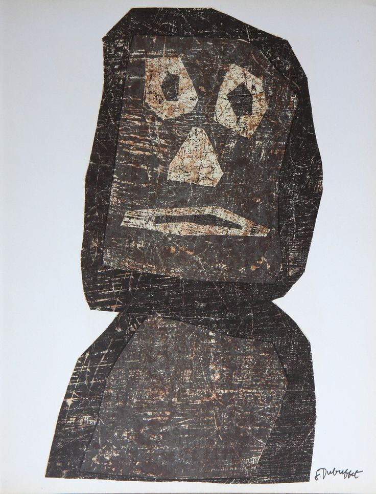 jean dubuffet, art brut, collage made with artist printmaking papers