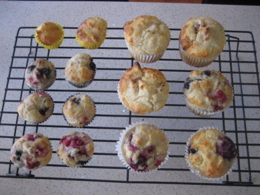Apricot and Mixed Berry Buttermilk Muffins by Michelle Bridges