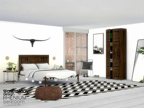 Rhenium Bedroom by wondymoon at TSR • Sims 4 Updates