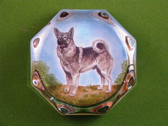 Noorse elandhond hond portret achthoekige door BixlerandJohnson