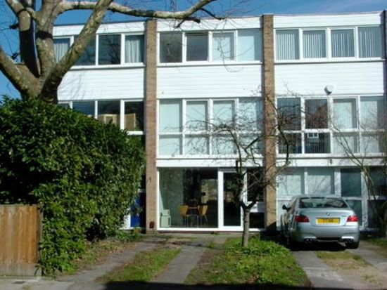 1960s King, Moran & Associates-designed four-bedroom town house on Fairlawns in East Twickenham, Middlesex