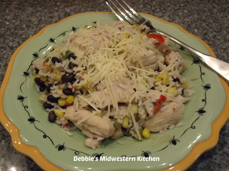 500 Calorie or Less Meal Ideas - Chicken, Rice, & Black Beans