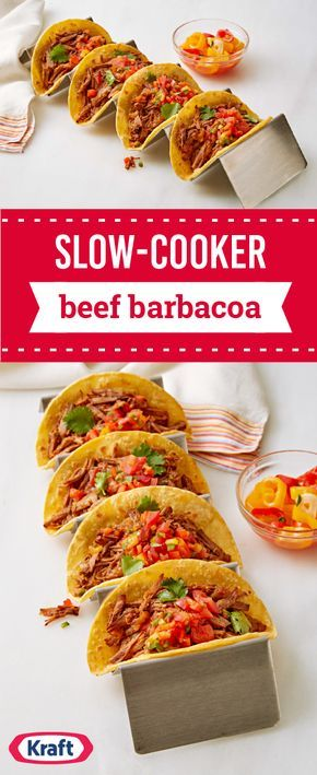 Slow-Cooker Beef Barbacoa – Please your taste buds with this tasty dinnertime recipe featuring HEINZ Chili Sauce. Not only is this dish easy to make, but it's also totally delicious thanks to the classic taco toppings!