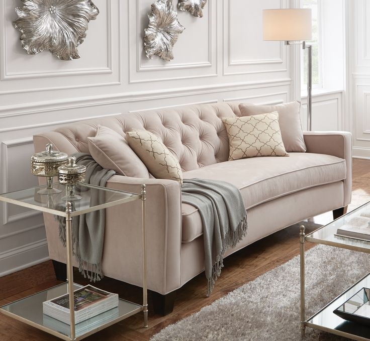 Home Decorators Collection Riemann Pearl Polyester Sofa