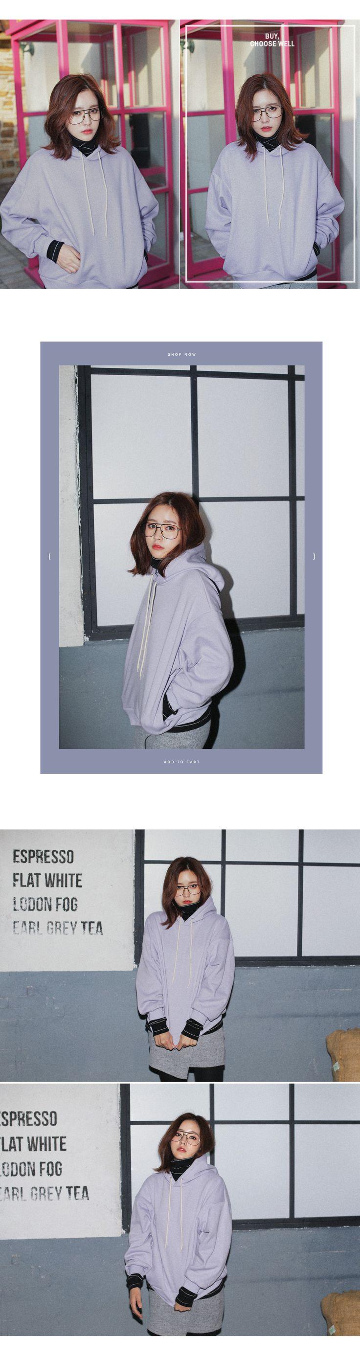 Basic fleece hooded tee-Xa-t45855