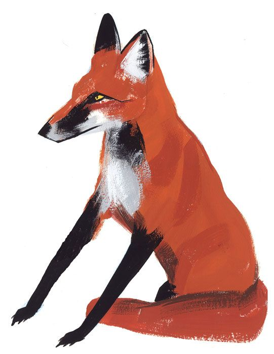red: Foxes Tattoo, Cool Paintings, Foxes Paintings, Foxes Illustrations, Ping Zhu, Design Sponge, French Knot, Red Foxes, Pingzhu