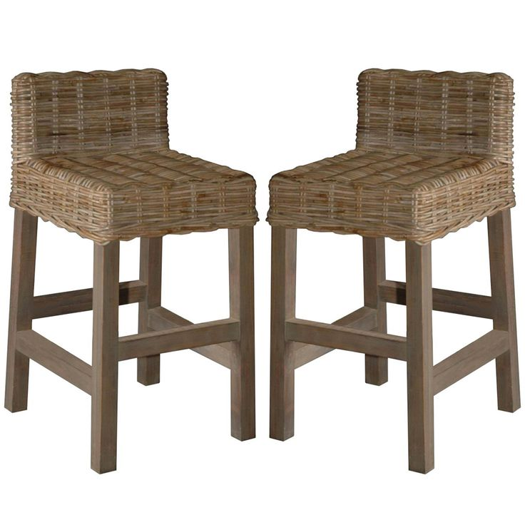 Woven Rattan Gray Washed Counter Stools Wicker Bar Stools Rattan Bar Stools Bar Stools