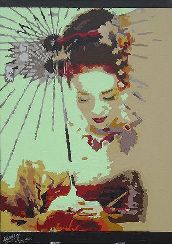 My Asian affairs - Zhang Ziyi ( 2008, Original ) by Edwin Lue-shing    by Edwin.Barrington.Lue-Shing