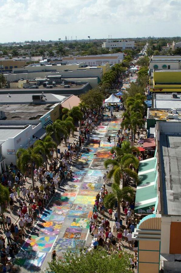 Welcome to the Annual Lake Worth Street Painting Festival! Watch as over 400 Artists use the pavement as canvas to transform downtown Lake Worth into a temporary outdoor museum of original art and masterpiece reproductions. See the streets come alive as the artists transform the pavement into works of art. It happens every February in downtown Lake Worth, Florida.