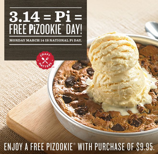 Free Pizookie Day Bj S Restaurant And Brewhouse