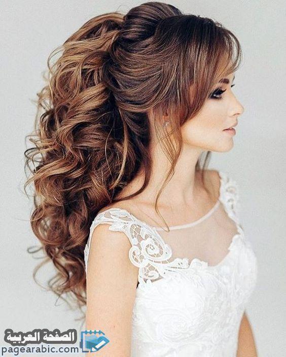 تسريحات شعر 2021 للاعراس فنانات مناسبات تسريحات شعر 2021 الصفحة العربية Hair Styles Long Hair Styles Hairstyle