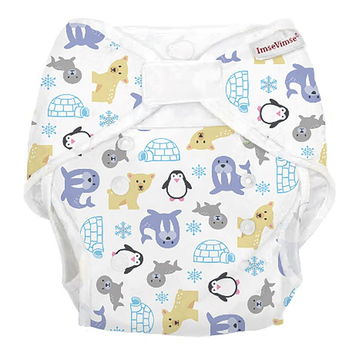 #Pannolini #lavabili taglia unica - animali polari