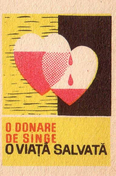 vintage romanian matchbook -Crucea roșie