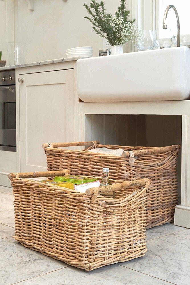 wicker baskets as under-sink storage