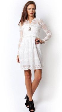 The Dance Tunic - #lacedress #springstyle #whitedress #bohemiandress #fashion