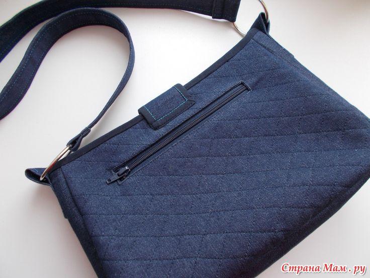 Джинсовая сумочка через плечо