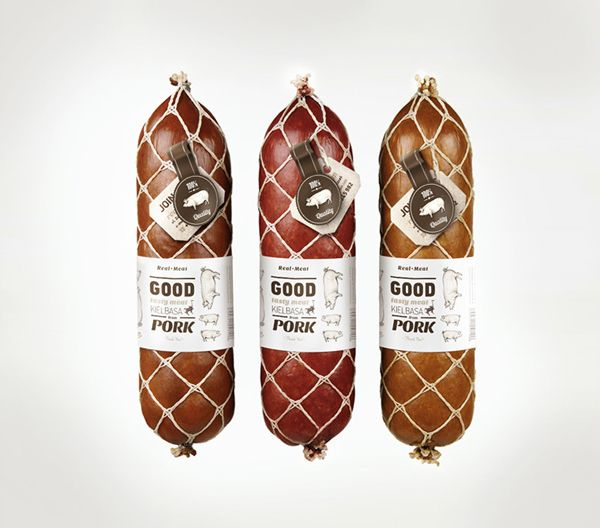 Real meat on Packaging Design Served