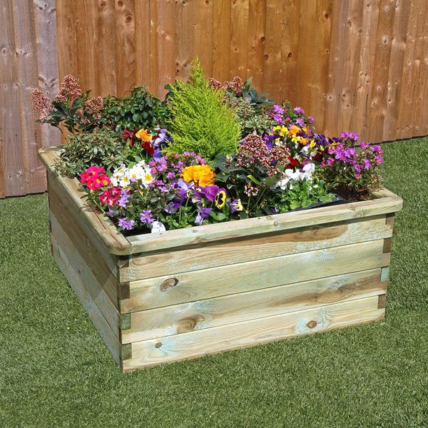 This compact Sleeper Raised Bed by Zest makes a lovely and practical addition to all gardens, especially those with limited space. Gardeners are able to reap all of the benefits from raised bed growing but on a smaller scale, suitable for their gardens. Utilising this raised bed is an ideal way to introduce areas of vibrant colour into your outdoor space. It's traditional design means that it is suitable for all styles of garden. The raised bed is made from pressure treated timber for a
