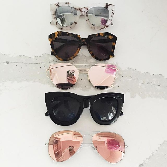 The sunnies lineup.