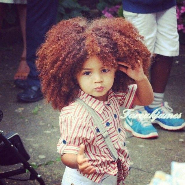 Beautiful Natural Curls And Color - http://www.blackhairinformation.com/community/hairstyle-gallery/kids-hairstyles/beautiful-natural-curls-color/ #kidshairstyles