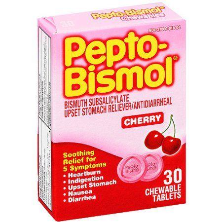 Pepto Bismol Cherry Flavor Chewable Tablets, 30 ct, Multicolor