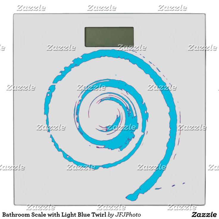 Bathroom Scale with Light Blue Twirl