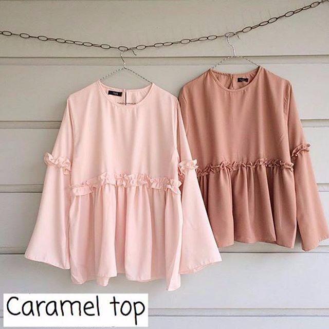 Baju Atasan Blouse Caramel Top - http://bit.ly/2kqDdMN