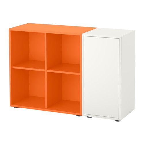 eket rangement avec pieds blanc orange projet savard pinterest fermer ikea et ouvert. Black Bedroom Furniture Sets. Home Design Ideas