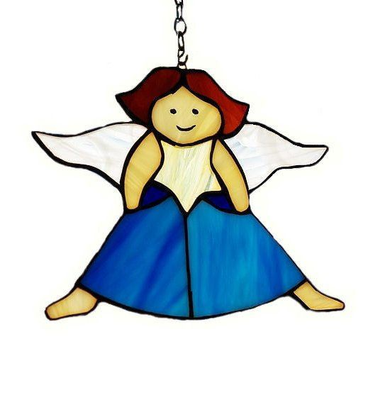 Stained Glass Angel - tiffany glass suncatcher. Christamas angel. Christmas decoration