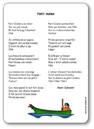 Chanson illustrée Petit indien Henri Salvador, chanson petit indien henri salvador