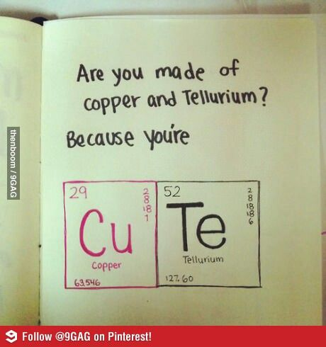 Science pick-up line: I HAVE TO REMEMBER TO DO THIS FOR LES!