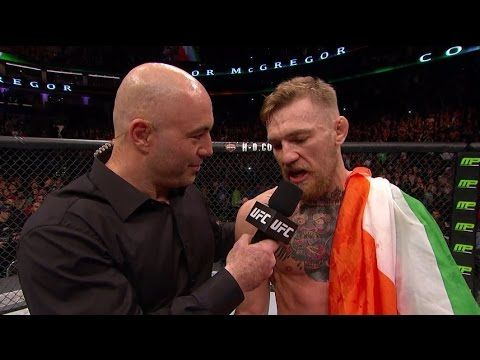 UFC (Ultimate Fighting Championship) Fight Night Boston: Conor McGregor and Jose Aldo Octagon Interviews