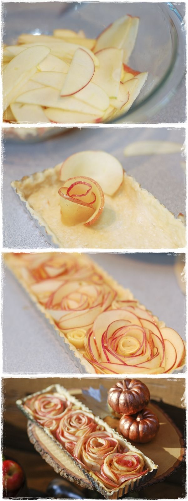 Rose Apple Tart! This is cute and easy to make. #recipe #apple #tart