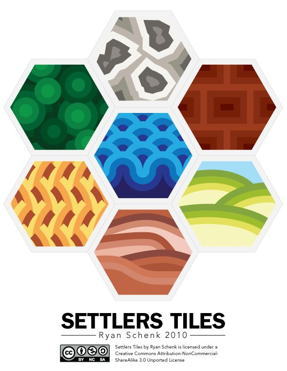 Settlers of Catan Tiles - Ryan Schenk