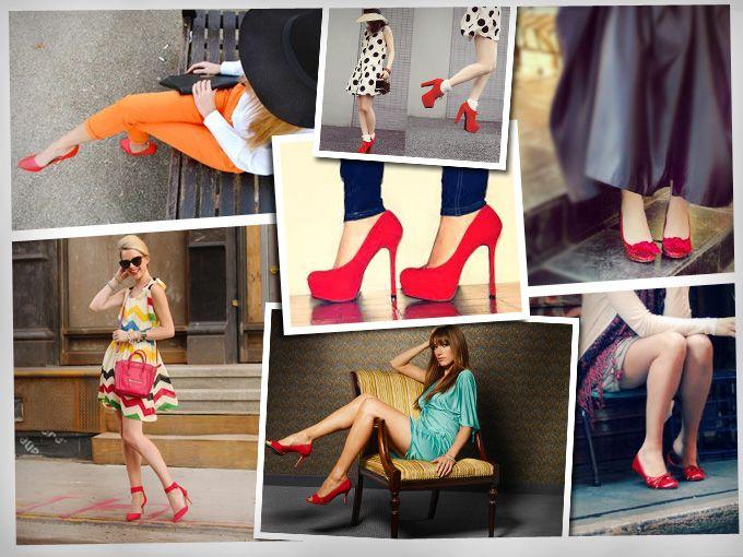 ¿Cómo combinar zapatos rojos?