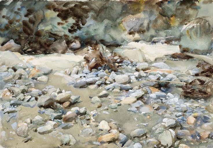 John Singer Sargent, Bed of a Torrent, c. 1904,