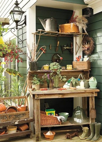50 Best Potting Bench Ideas To Beautify Your Garden Life on the
