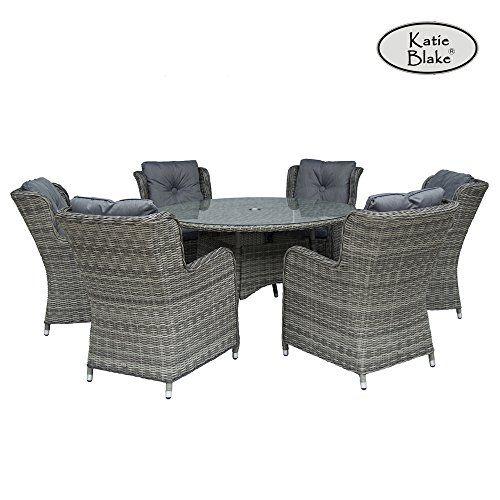 Katie Blake Seville 6 Seat Garden Furniture Set With High