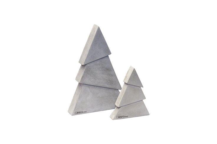Zestaw choinek DIAGONAL z betonu