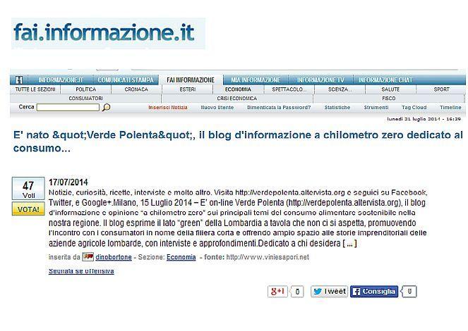 ... anche il portale d'informazione del FAI si è accorto di noi... Grazie! http://fai.informazione.it/p/CEA4D869-773D-44D5-8969-6E3E6615E913/Ristorazione-green-al-Biagio-Pignatta-maxi-orto-a-chilometri-zero