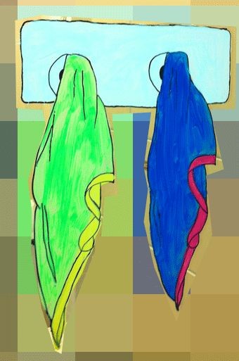 serviette-flouté